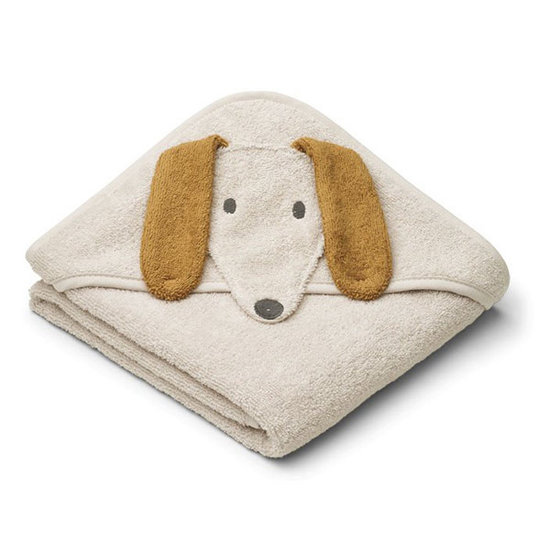 Liewood Badcape Albert Dog sandy 70cm - Liewood