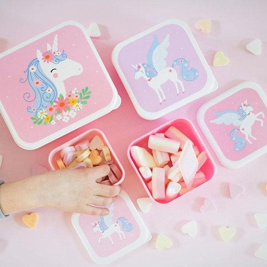 A Little Lovely Company A Little Lovely Company lunch & snack box set Eenhoorn