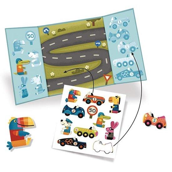 Djeco Djeco stickerboek auto's +18M