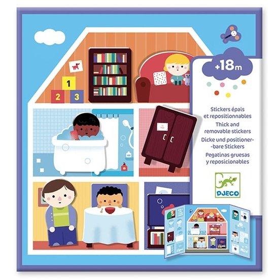 Djeco Djeco stickerboek huis +18M