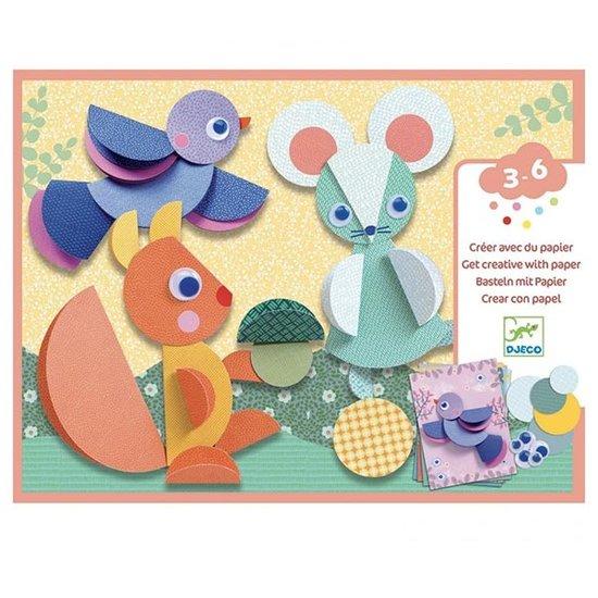 Djeco Djeco knutselen met papier dieren 3-6jr