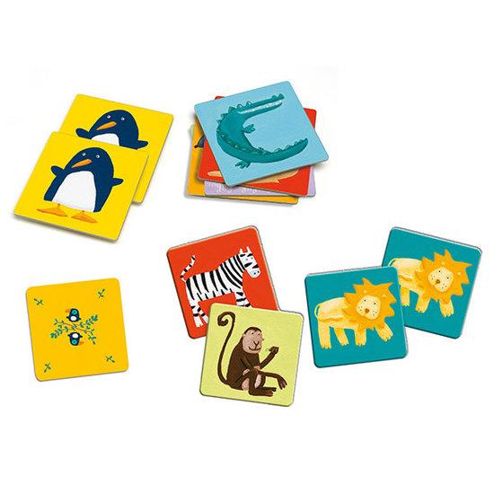Djeco Djeco memory dieren kleuren +3jr