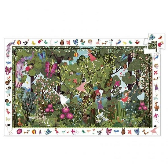 Djeco Djeco observatie puzzel Garden play time 100 stukjes