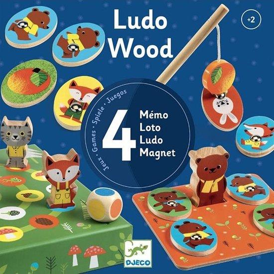 Djeco Djeco Ludo Wood gezelschapsspellen +2jr