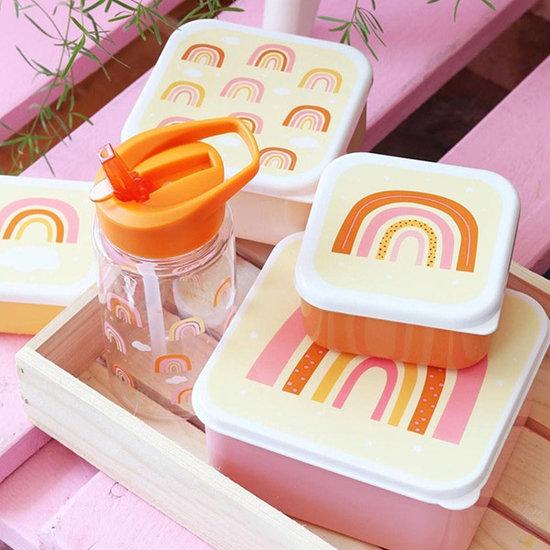 A Little Lovely Company A Little Lovely Company lunch & snack box set Regenbogen