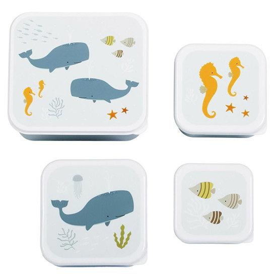 A Little Lovely Company A Little Lovely Company lunch & snack box set Oceaan