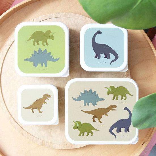 A Little Lovely Company A Little Lovely Company lunch & snack box set Dinosaurussen