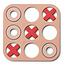 Liewood Liewood Kelsey Tic Tac Toe - 3 in a row Rose
