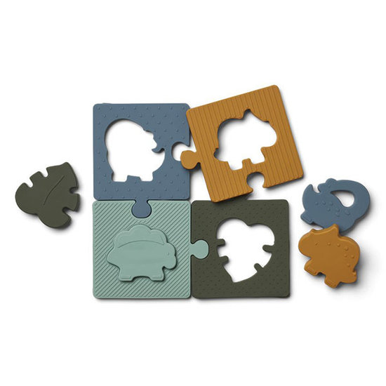 Liewood Liewood Bodil puzzle Dino blue multi mix