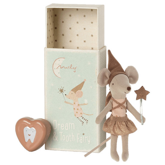 Maileg Maileg tooth fairy girl Rose in box with tooth box