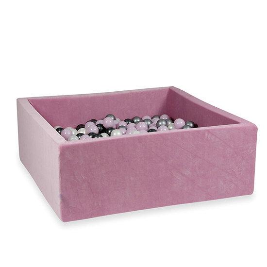 Moje Ballenbad velvet raspberry 110x110 +ballen - Moje