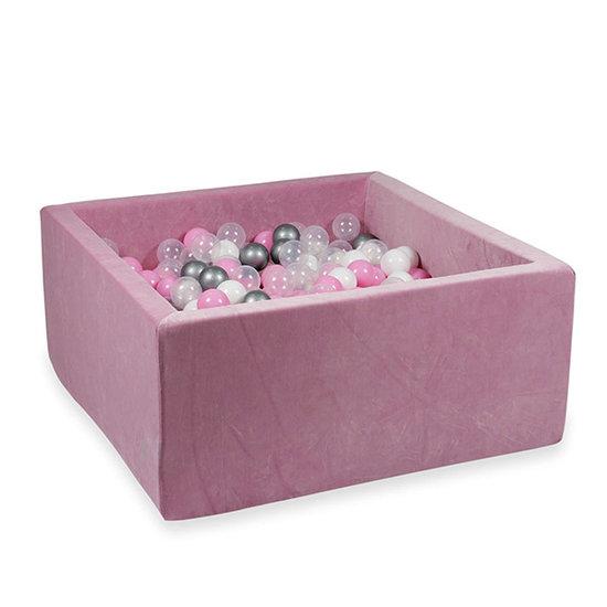 Moje Ballenbad velvet raspberry 90x90x40 +ballen - Moje