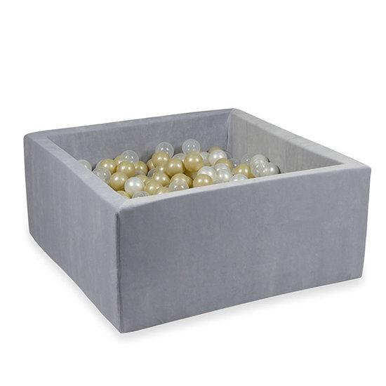 Moje Ballenbad velvet light grey 90x90x40 +ballen - Moje