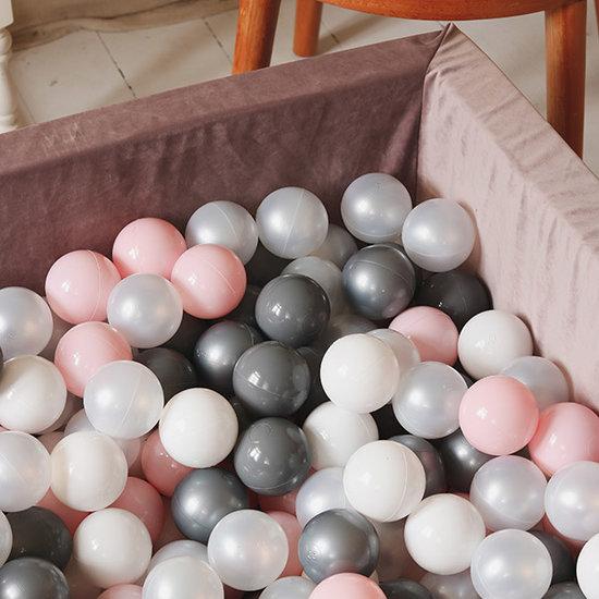 Moje Ballenbad velvet rust 110x110 +ballen - Moje