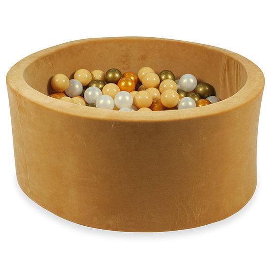 Moje Ballenbad velvet caramel 90x40 +ballen - Moje