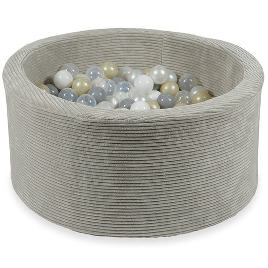 Moje Ballenbad rib velvet grey 90x40 +ballen - Moje