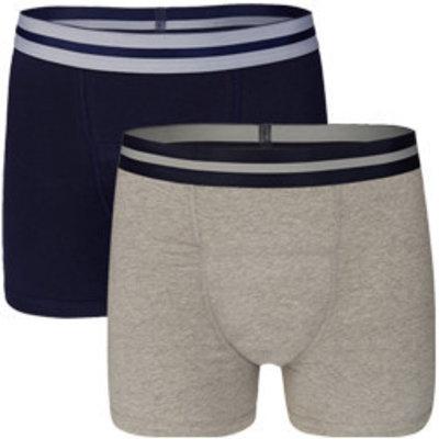 UnderWunder Herren Boxershorts blau/grau (Preis pro Set)