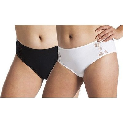UnderWunder Damen Taillenslip mit Spitze, weiß und/oder schwarz (Preis pro Set)