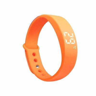 Erinnerungs Uhr orange