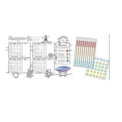 Urifoon Scorekarte mit Aufklebern
