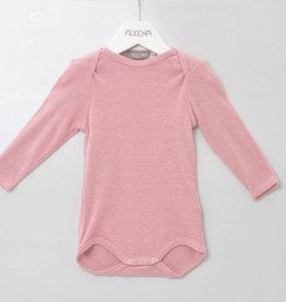 alkena Body langarm rosa, gerippt - Bouretteseide