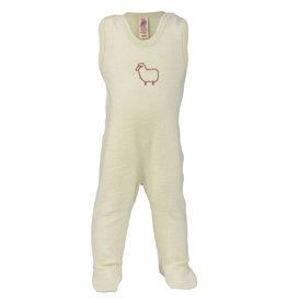 """Engel Natur Engel - Baby-Strampler mit Fuß, mit Stickerei """"Kleines Schaf"""", Frottee"""