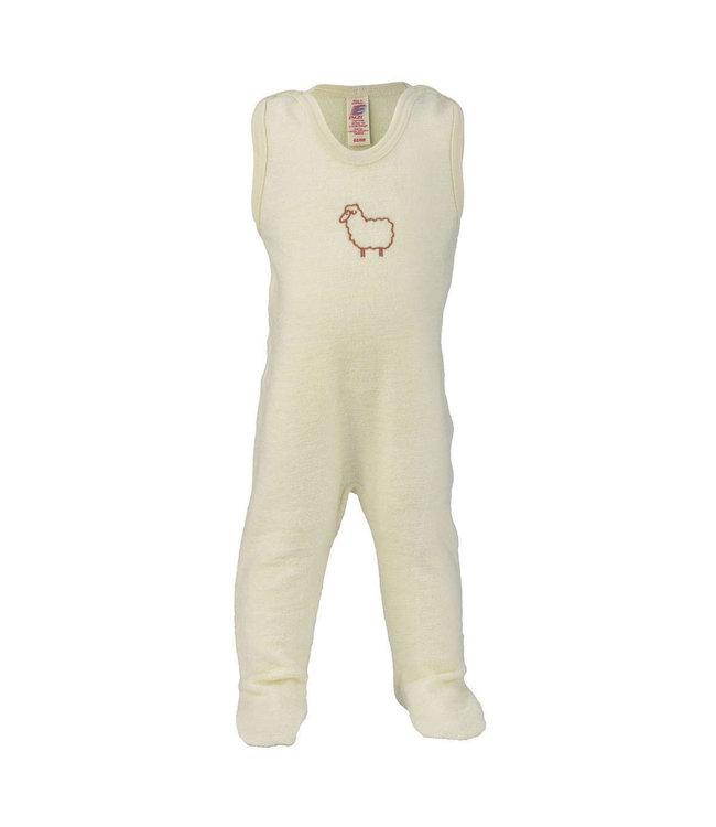 """Engel Natur Engel - barboteuse bébé avec pied, avec broderie """"Petit Mouton"""", éponge"""