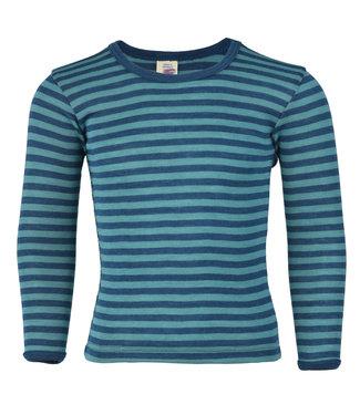 Engel Natur Engel - maillot de corps enfant, manches longues, laine / soie côtelée fine - avec boutons