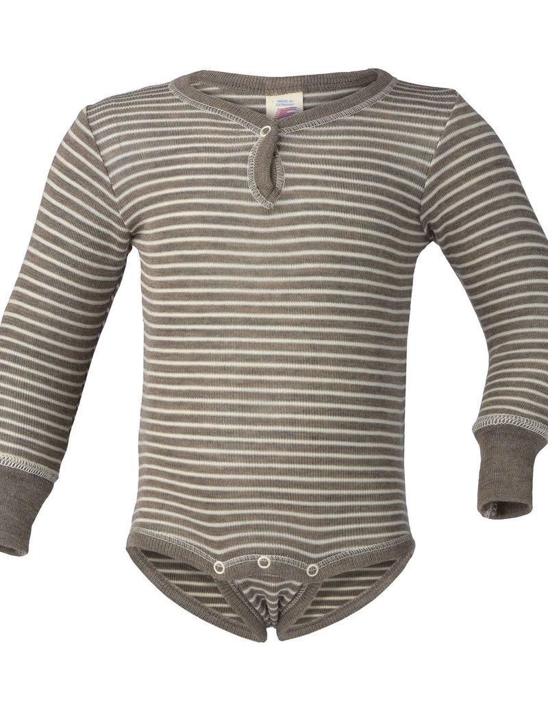 Engel Engel - Baby-Body langarm, mit Druckknopf vorne, Feinripp