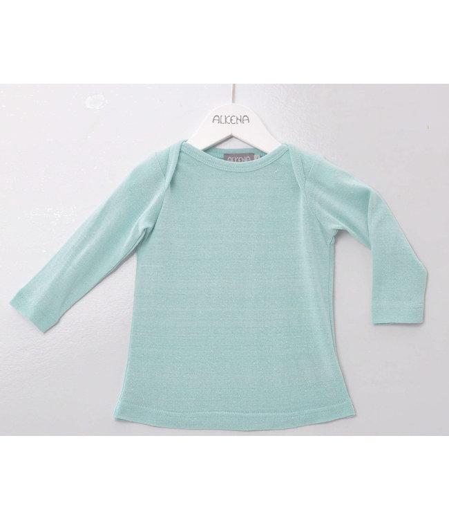 Alkena Alkena - chemise à enfiler - aqua - soie bourette
