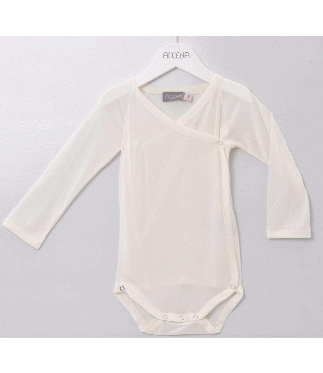 Alkena Alkena - Body portefeuille à manches longues en 100% soie biologique (jersey de soie) - naturel