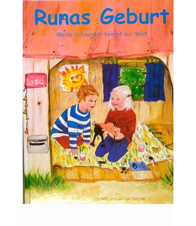 Spillmann La naissance de Runa (livre d'images) - Naissance à domicile - en allemand - Texte en français imprimable
