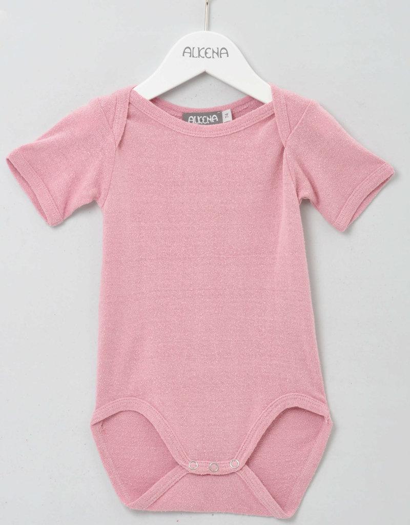 alkena Body kurzarm rosa - Bouretteseide