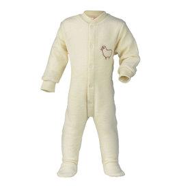"""Engel Einteiliger Schlafanzug mit Fuß, mit Stickerei """"Kleines Schaf"""", Frottee - IVN zertifiziert, GOTS"""