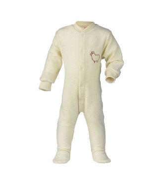 "Engel Natur Engel Natur - Pyjama / pyjama une pièce avec pieds avec broderie ""Little Sheep"", tissu éponge"