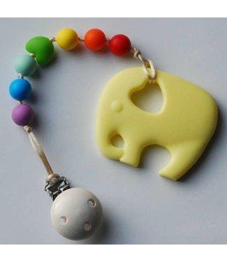 Mom and I Kaukette Elefant - Gelb/Rainbow