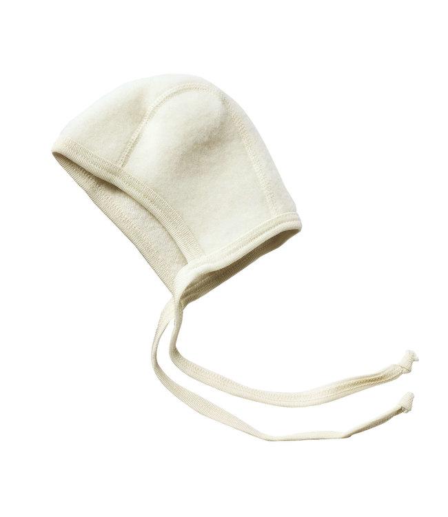 Engel Natur Engel- bonnet pour bébé - polaire en laine - naturel