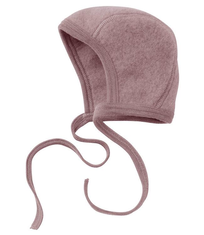 Engel Natur bonnet pour bébé - laine polaire - rosewood melange