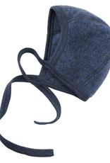 Engel Engel - Babyhäubchen - Wollfleece - blau melange