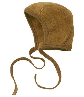Engel Natur Engel- bonnet pour bébé - polaire en laine - mélange safran