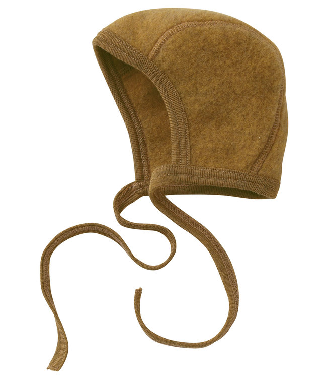 Engel Natur bonnet pour bébé - polaire en laine - mélange safran