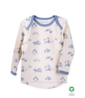 Organic by Feldmann Organic by Feldmann - chemise à manches longues - design guérison des montagnes - naturel / bleu clair