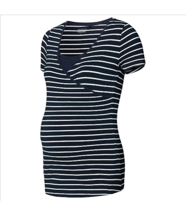 Noppies Noppies - Chemise d'allaitement Lely YD - bleu marine / rayures blanches