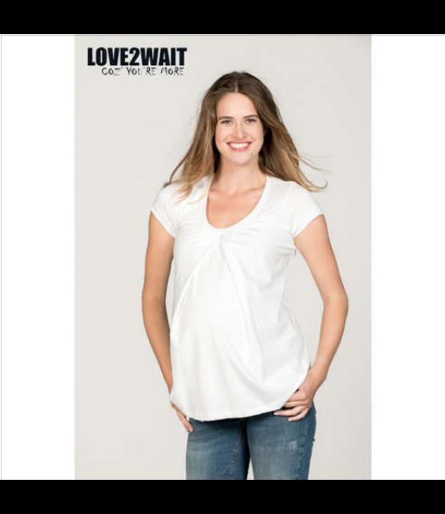 love2wait Love2wait - Still- und Umstands-Shirt -  weiss - bio