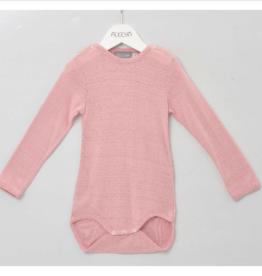 alkena Body langarm rosa mit Knöpfen an den Schultern - Bouretteseide