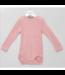 Alkena Alkena - Body manches longues rose avec boutons sur les épaules - soie bourette
