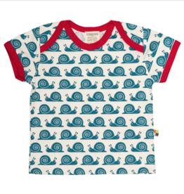 Loud and Proud Loud and Proud - Schnecken T-Shirt blau - GOTS zertifiziert