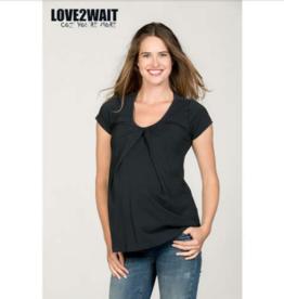 love2wait Still- und Umstands-Shirt - GOTS zertifiziert