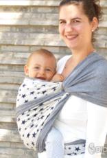 Babytragetuch Jersey Doubleface Sterne - Grösse 5 + 6