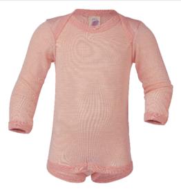 Engel Engel - Baby-Body langarm, Feinripp - ohne Knöpfe - Farben: lachs/natur, gletscher/natur
